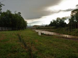 L'area su cui sorge il campo di accoglienza a Savigliano
